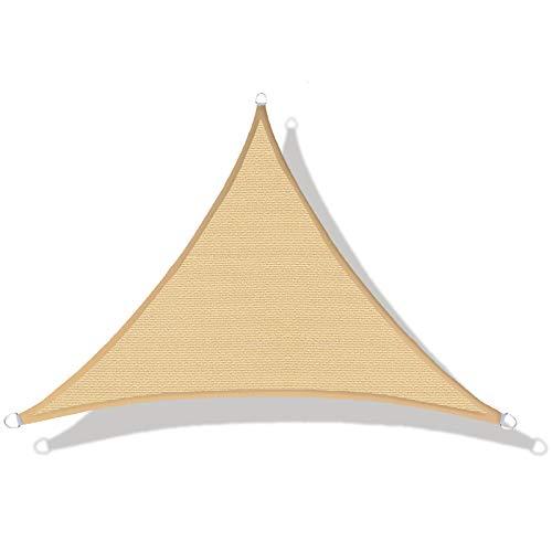 LOVE STORY Tenda da Vela Parasole(HDPE) Triangolare 3×3×4.25m Sabbia Protezione UV per Terrazza Campeggio Giardino Esterno