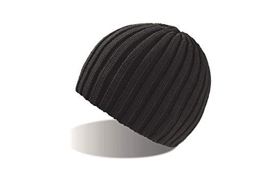 ROC-4x schwarz Strickmütze Wollmütze Wintermütze Mütze gestrickte Wintermützen Herrenmütze Skimütze Snowboardmütze Damenmütze Damenstrickmütze Beanie Herren Damen