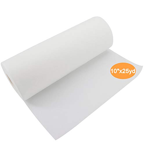 """New Brothread Wash Away - Water Soluble Machine Embroidery Stabilizer Backing & Topping 10"""" x 25 Yd roll - Light Weight - Cut into Variable Sizes for Machine Embroidery and Hand Sewing"""
