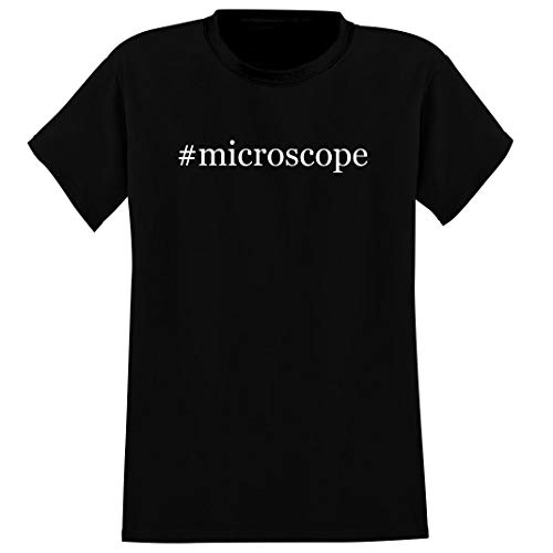 #microscope - Men's Hashtag Crewneck T-Shirt, Black, X-Large