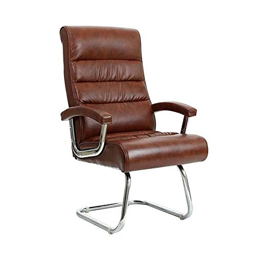 XYJHQEYJ Computer Gaming Chair, Executive Office Sedia reclinabile ergonomica Videogiochi, scrivania Sedie Boss, Sedia in Pelle Marrone