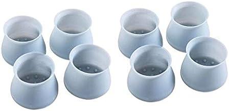 Siliconen Stoelpootkussen Verdikt Antislip Tafelstoelpootdop En Voetbescherming Ondermat Mat Houten Vloer Beschermmat 8 St...