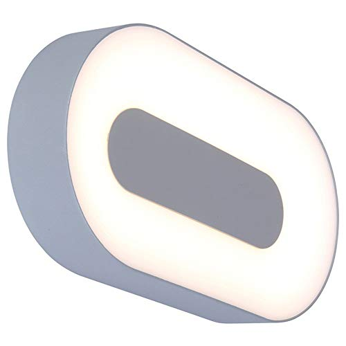 Aussenlampe & Aussen-Wandleuchte Hauseingang LED IP54 Zeitlos Grau Aluminiumdruckguss | 1-flammig