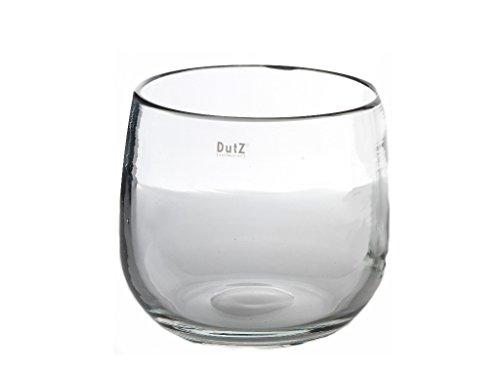 Glasvase / Glasübertopf Dutz Pot md 0 H11 D13 clear / klarglas Vase handgefer...