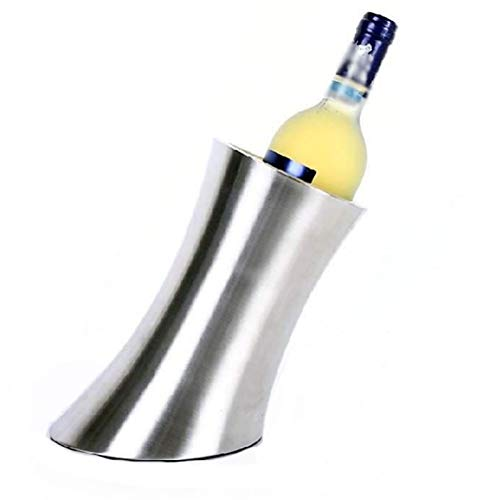 SMEJS Cubo de hielo aislado exclusivo – cubo de champán de doble pared bien hecho mantiene el hielo congelado más largo cubo de hielo de acero inoxidable
