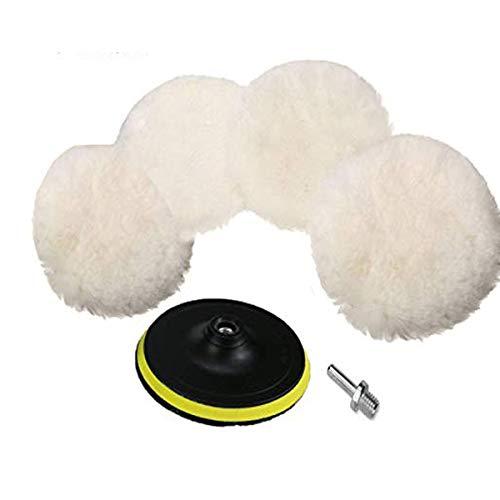 Dischetti lucidanti, in lana d'agnello e spugna, 15,2 cm, per pulizia e lucidatura cofani d'auto