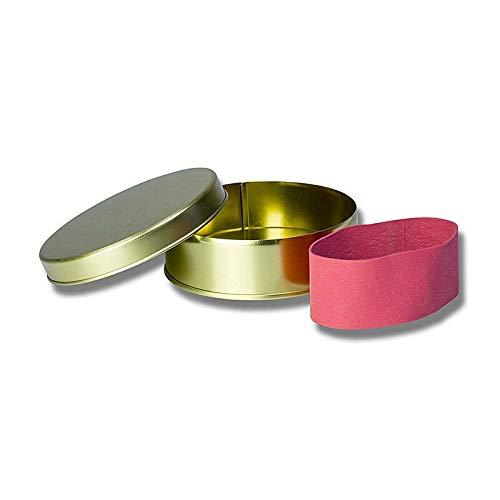 Kaviardose - gold, unbedruckt, mit Verschluss-Gummi, für 125g Kaviar, 1 St