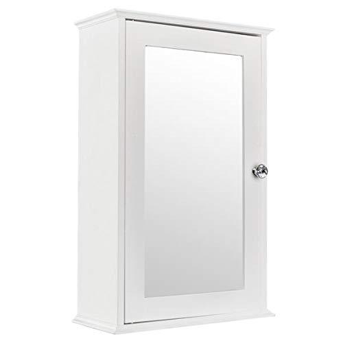 HopeHope Bathroom Cabinet, Single Door Wall Mounted Medicine Cabinet with Mirror