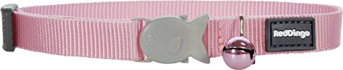 Red Dingo Classic Cat Collar, One Size Fits All, Pink