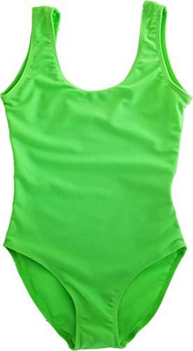 Cheryl Creations Kids One Piece Basic Bikini Swimsuit (Neon Green, X-Large 16)