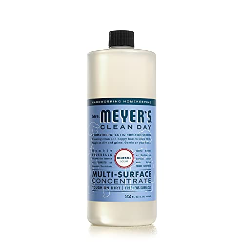 Mrs. Meyer's Clean Day Multi-Surface Cleaner Concentrate, Use to Clean Floors, Tile, Counters, Bluebell Scent, 32 oz
