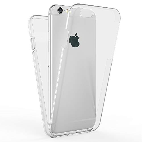 Kaliroo Handyhülle 360 Grad kompatibel mit iPhone 6 | 6S, Full-Body Schutzhülle Hardcase hinten & Displayschutz vorne mit Silikon Bumper, Slim Full-Cover Case Komplett-Schutz Hülle Etui - Transparent