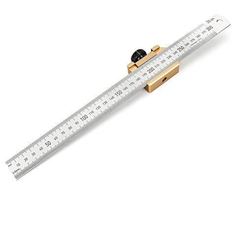 Welltop - Calibro per marcatura da 30 cm, con blocco di posizionamento