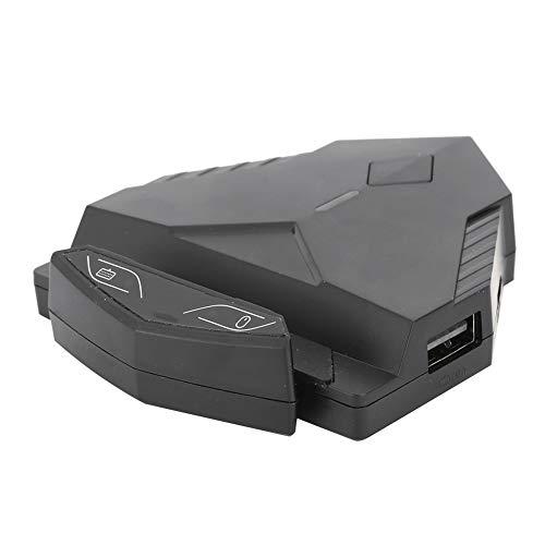 Convertidor Multifuncional de Teclado y Ratón, Adaptador de Conversión para Gaming Mouse y Teclado para Teléfonos Inteligentes, Compatible con Sistemas Android, Conexión por Cable y Bluetooth(Negro)