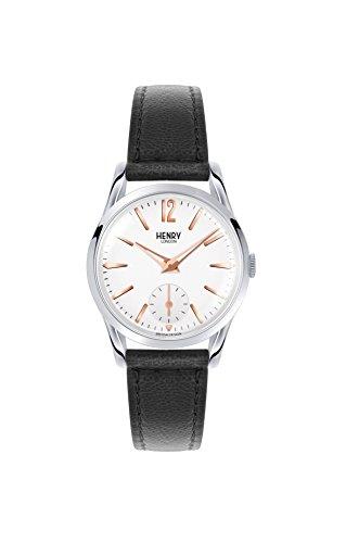 Henry London Reloj Analógico para Unisex de Cuarzo con Correa en Cuero 5018479077435