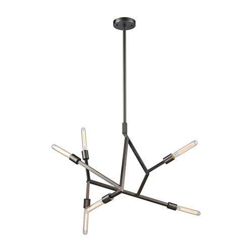 ELK Lighting 11858/6 - Lámpara de araña, talla única, color negro