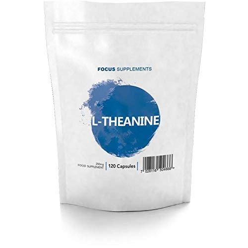 FS L-Theanin | 250mg Vegetarische Kapseln | 120 L Theanine Tabletten Für Konzentration | Nootropikum | Milch und Allergen Frei | Nicht GVO | Gluten Frei und ISO-Zertifiziert