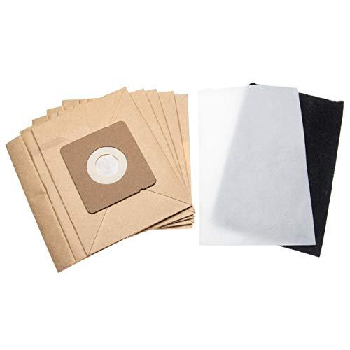 vhbw 5 sacchetti (carta) + 1 microfiltro compatibile con Rowenta RO2441WA/4Q0, RO2451, RO2451WA, RO2455, RO2455WA, RO2465, RO2465WA aspirapolvere