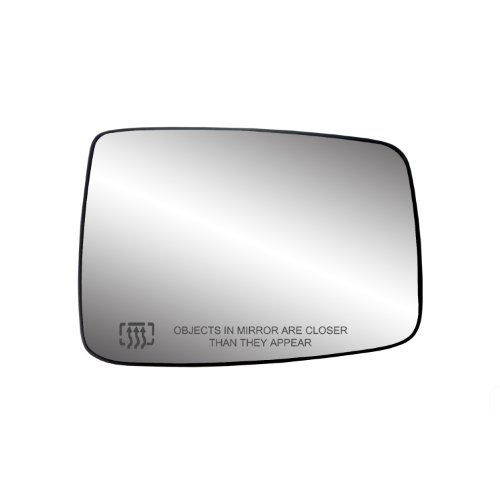 "Fit System 30244 Passenger Side Heated Mirror Glass w/Backing Plate, Dodge Ram Pick-Up 1500, Ram Pick-Up 2500, 3500, 6 3/8"" x 9"" x 10"" (w/o Towing pkg, w/o auto dimming)"