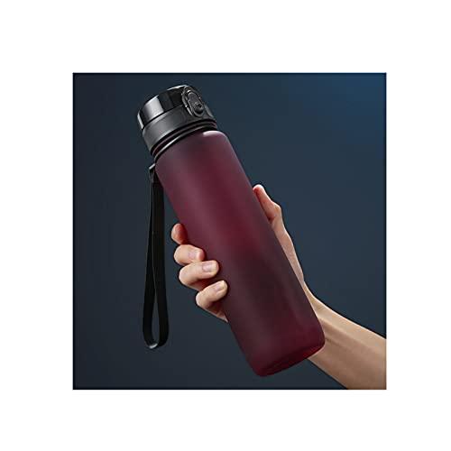 GYN Botella de Agua Deportiva Botella Tritan Reutilizable a Prueba de Fugas Sin BPA para Deporte Fitness Ligero Sostenible,Red,800ml
