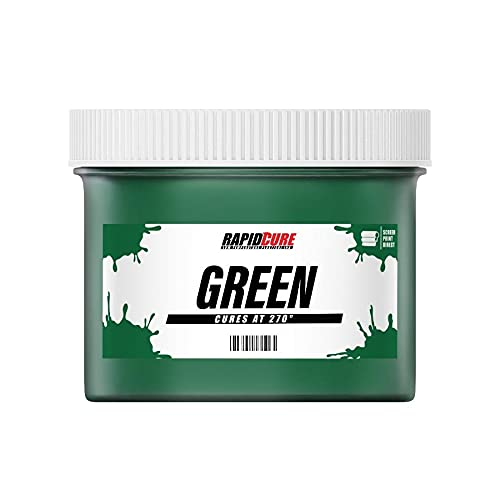 Rapid Cure Green Plastisol Ink for Screen Printing Low Temperature Fast Curing Ink by Screen Print Direct (Quart - 32 oz.)