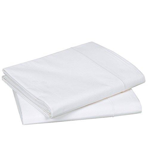 Blanc des Vosges Uni 57 Fils Taie de Traversin - Coton - Blanc - 90x190 cm
