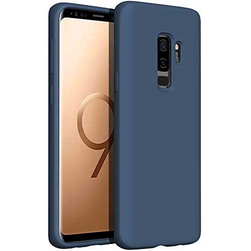 YATWIN kompatibel mit Handyhülle Samsung Galaxy S9 Plus Hülle Silikon, Ultra Dünn Flüssig Silikon Hülle Samsung S9 Plus Hülle, Schutzhülle Samsung S9 Plus Hülle 6,2 Zoll Blau