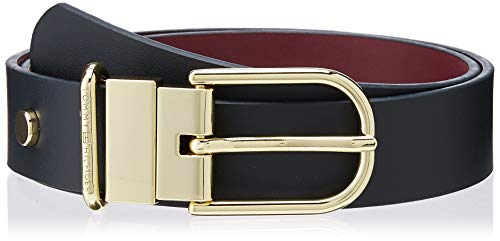 Tommy Hilfiger New Fancy Reversible Belt 3.0 Cintura, (Blue 0yf), 3 (Taglia Produttore: 75.0) Donna
