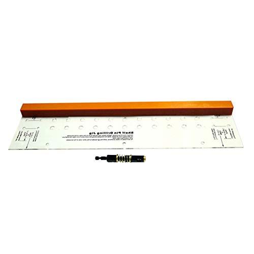 Plantilla de taladro de pasador de estantería, mini herramienta de trabajo de madera de montaje de bisagra con sistema de puntas de cambio rápido y precisión cortada con láser para estantes