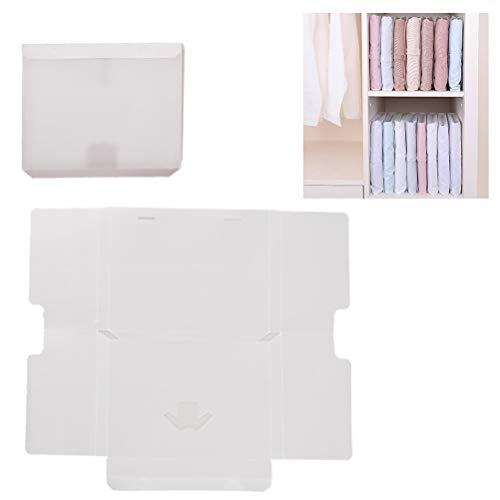 Haplws Kleidung Faltbrett, Durchscheinende Wäschefalter Einstellbar Wäsche Faltbrett für Shirts, Hemden Hosen Hemden Wäsche 10 Stück