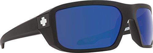 Spy Optic Mccoy Polarized Wrap Sunglasses, Matte Black/Happy Bronze Polar & Blue Spectra, 63 mm