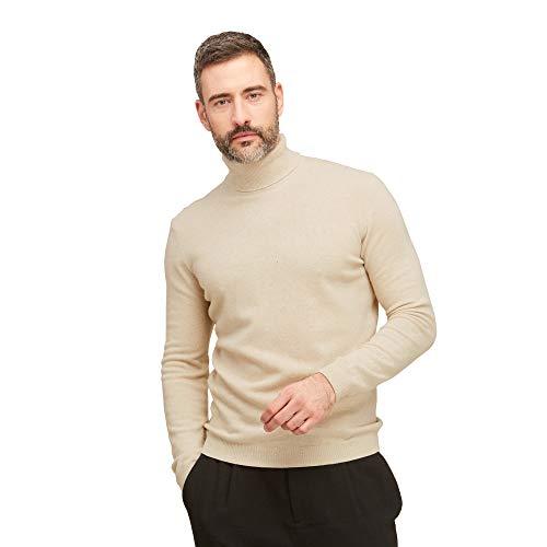 Coltrui pullovers heren 100% superfijne scheerwol kleur beige