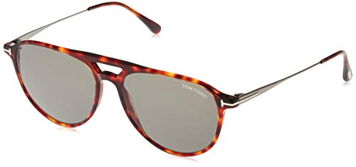 Tom Ford FT0587 54N 58 Monturas de gafas, Marrón (Avana RossaVerde), 58.0 Unisex Adulto