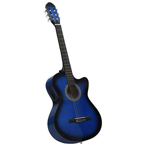 pedkit Guitarra Clásica para Aprender Guitarra acústica Occidental Cutaway Ecualizador 6 Cuerdas Azul