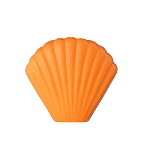 WxberG Jarrones para flores, de plástico, moderno, para decoración del hogar, estantería, mesa, dormitorio, florero, decoración (color naranja)