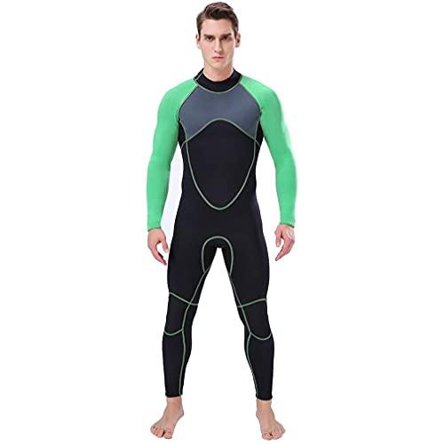 CXQA Traje de Trabajo para Hombres de 3 mm, Trajes de Longitud Completa para Deportes acuáticos Costuras de natación Sailing Jetski,M