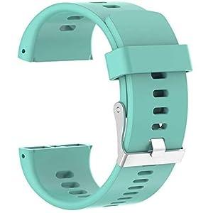 Tyogeephy Correa de Reloj Compatible con Polar V800, Silicona Banda de Reemplazo Pulsera para Polar V800 GPS Sports Watch (No Tracker)