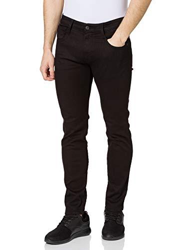 REPLAY Anbass Jeans, Nero (098 Black), 34W x 36L Uomo