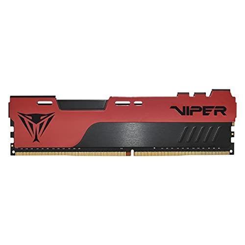Patriot Memory Viper Elite II DDR4 2666 8GB (1x8GB) C16 Modulo de Memoria Gaming de Alto Rendimiento RAM XMP 2.0 Negro/Rojo