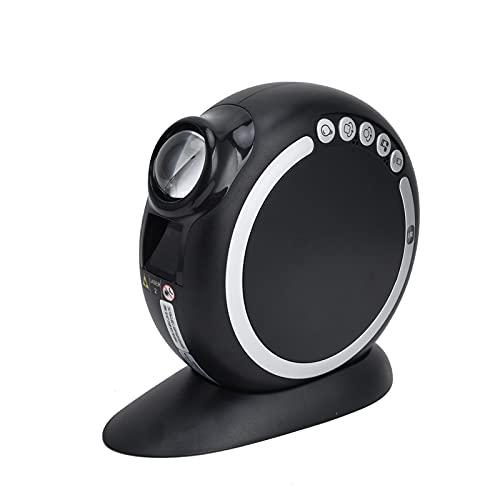 Surebuy Lámpara del proyector, con la lámpara incorporada del proyector de la música de la batería de Litio de los Colores claros del RGB 2400mAh para el Partido(Negro)