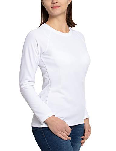 iQ-UV Damen Sonnenschutz Langarm T-Shirt, White, L