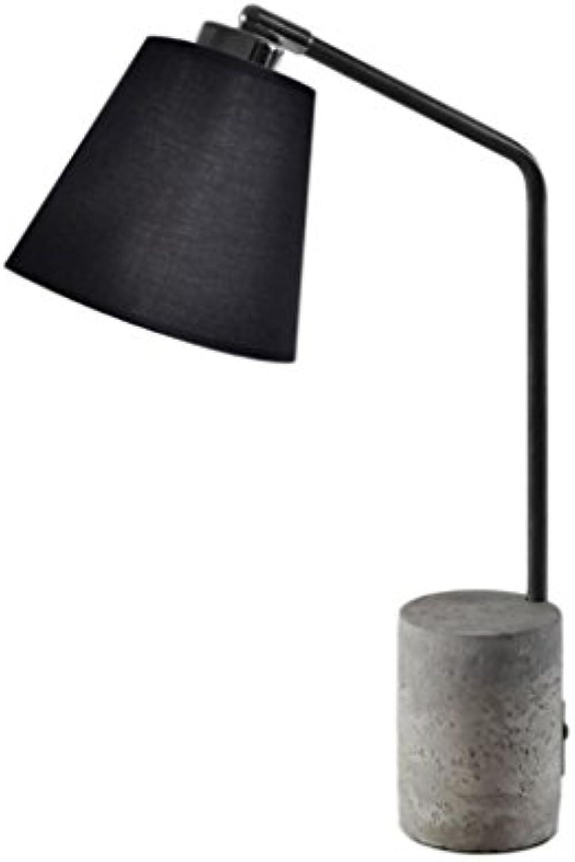 Zons Lampe Design aus Holz + Leuchtmittel 15x 36x H46cm schwarz
