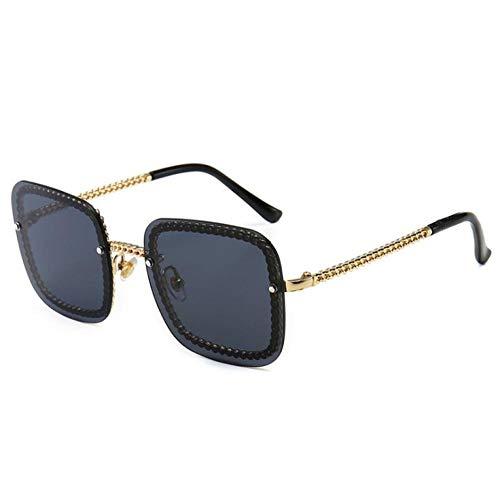 ZZZXX Cordones Para Gafas De SolGafas De Sol Con Caja De Cadena Gafas De Sol Hd Antireflectantes Para Hombre Y Mujer,Con Caja De Regalo Y Paño Para Vasos