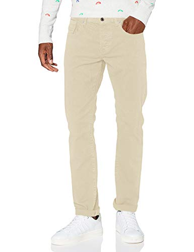 Scotch & Soda Mens Ralston - Garment Dyed colours Pants, Sand 0137, 32W/ 32L