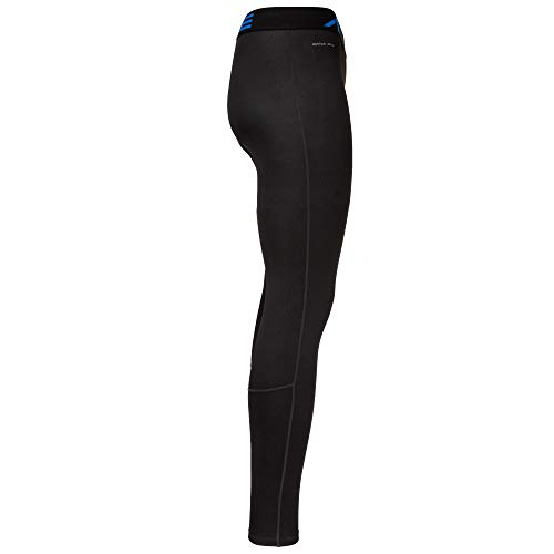 A1ive Mens Thermal Base Layer Embossed Compression Tight Bottom Active Athletic Pants (Black/Blue, Medium)