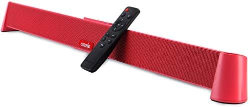 Soundbar für TV Geräte, CARRVAS Soundbar mit integriertem Subwoofer, PC Lautsprecher, Kabelgebundene und Drahtlose Bluetooth, TV-Stereolautsprecher Heimkino Optisch/Koaxial/Aux-Verbindung(31 Zoll)