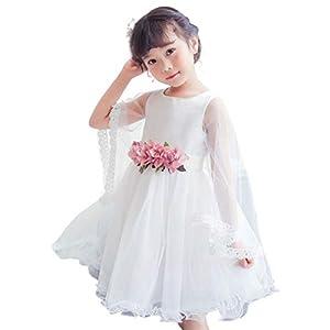 【 可憐な装い 】iikuru 子供 ドレス 女の子 フラワーガール キッズ フォーマル ワンピース ピアノ 発表会 結婚式 リングガール ワンピースドレス お誕生日 パーティー 服 y730