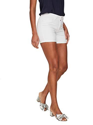 Vero Moda NOS Damen Vmhot Seven Nw DNM Fold Mix Noos Shorts , Weiß (Bright White) , S