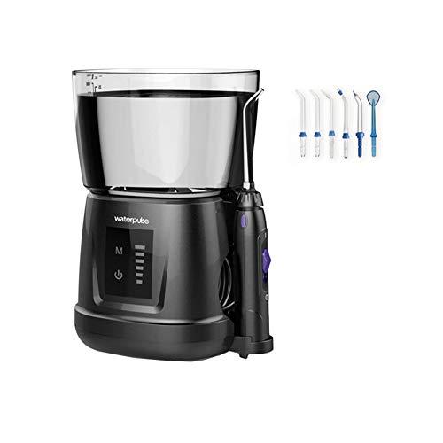 Munddusche Oral, Elektrischer Oral Irrigator Mundspülgerät 6 Druckeinstellungen mit 1000ml Wassertank und 6 Funktionsdüsen,White