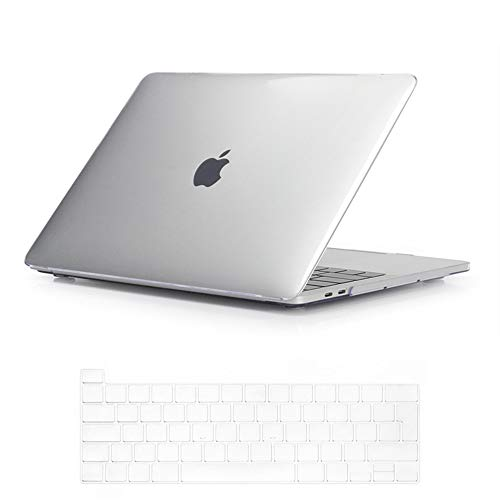 Se7enline 2020 MacBook Pro 13 Case Crystal Plastic Hard Shell Laptop Cover for MacBook Pro 13-inch New Model A2338/A2251/A2289 with Touch Bar Touch ID with Keyboard Protective Skin, Transparent/Clear